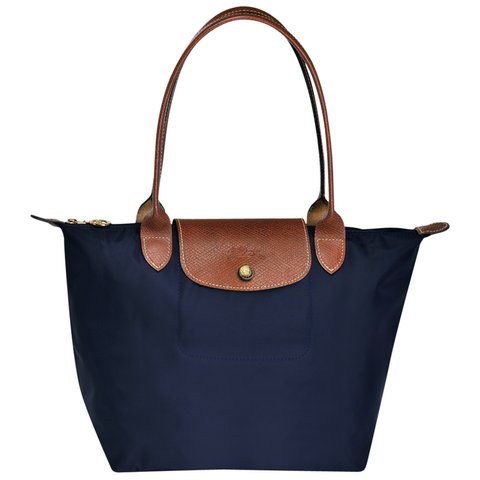 Longchamp - Le Pliage Long Handle Small Tote Bag in Navy