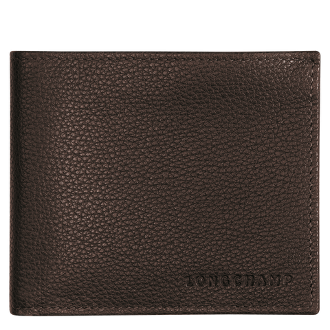 Longchamp - Le Foulonné Card Holder in Mocha