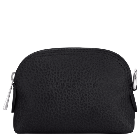 Longchamp - Le Foulonné Coin Wallet in Black