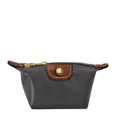 Longchamp - Le Pliage Coin Purse in Gun Metal