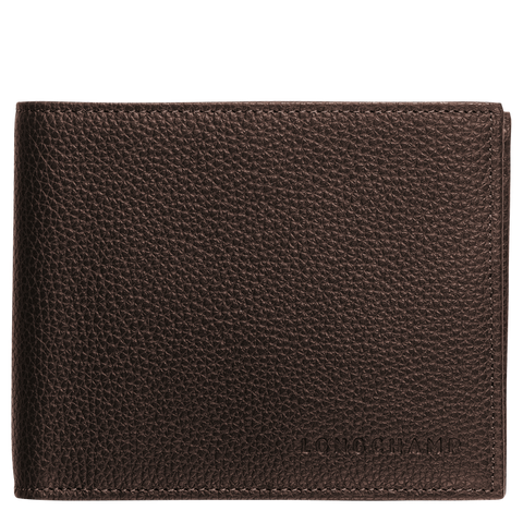 Longchamp - Le Foulonné Small Wallet in Mocha
