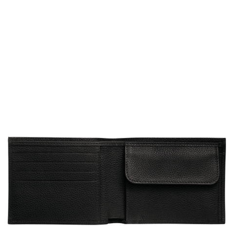 Longchamp - Le Foulonné Card Holder with Coin Slot in Black