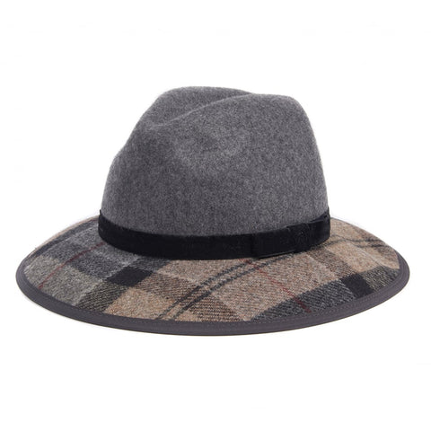 Barbour - Women's Thornhill Fedora Hat in Grey