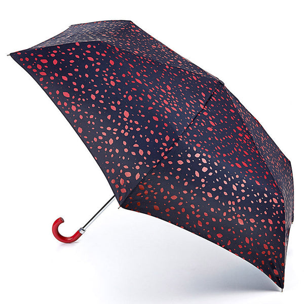 Lulu Guinness by Fulton Superslim-2  Roughly Cut Out Spot Red Umbrella