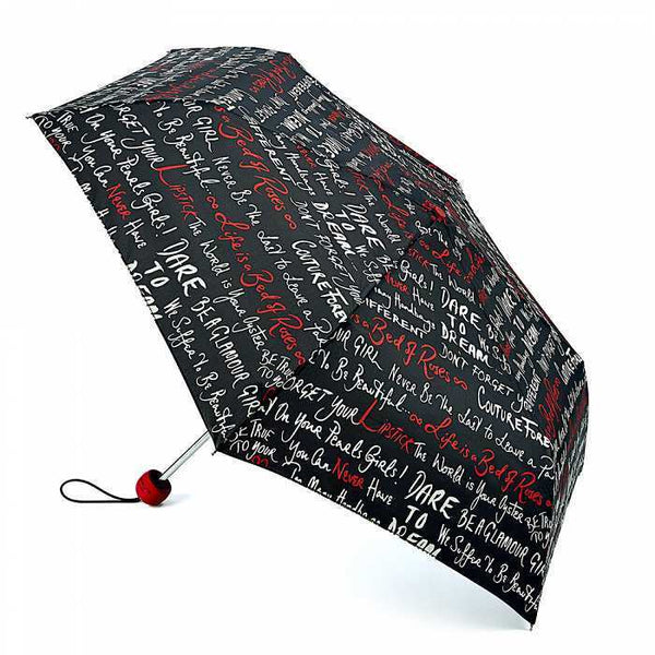 Lulu Guinness by Fulton Superslim-2 Sayings Umbrella