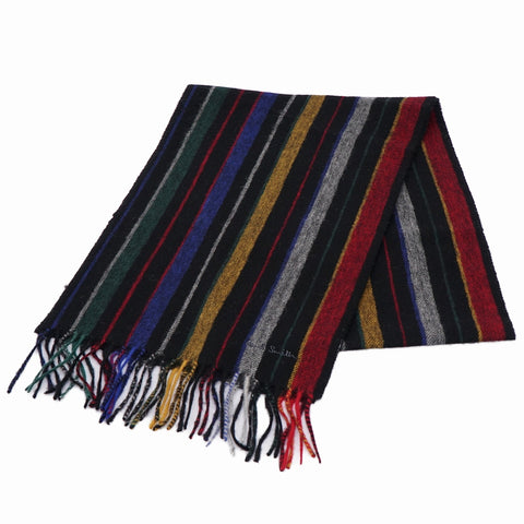 Paul Smith - Men's College Wool Scarf in Black