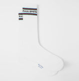 Paul Smith - Men's Logo Socks With Sports Stripe Trim in Off-White