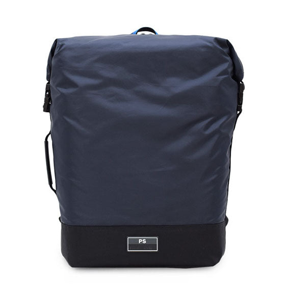 Paul Smith - Men's Zip Top Nylon Backpack in Navy