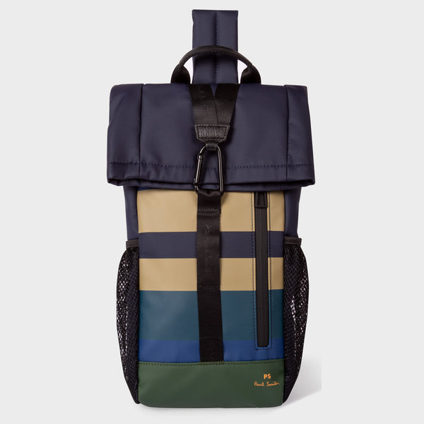 Paul Smith - Coated Engineered Stripe Sling Backpack