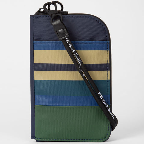 Paul Smith - Men's Coated Engineered Stripe Neck Pouch
