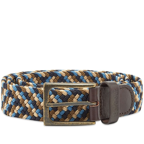 Barbour - Men's Ford Belt in Blue, Navy & Stone
