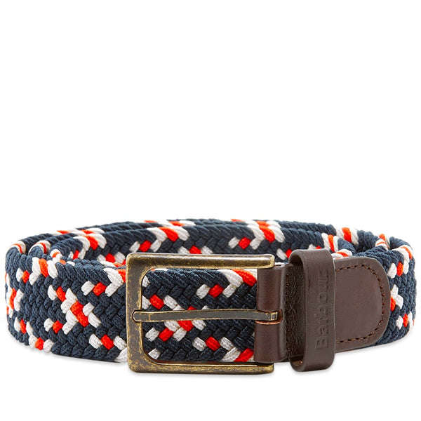 Barbour - Men's Ford Belt in Red, Navy & Ecru