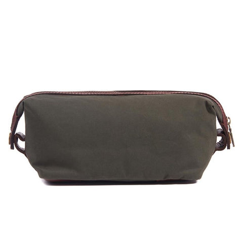 Barbour - Drywax Convert Washbag in Olive