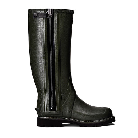 Hunter Men's Balmoral II Field Flexible Sovereign Wellington Boots in Dark Olive
