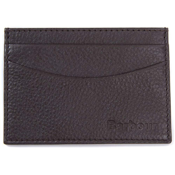 Barbour - Amble Leather Card Holder in Dark Brown