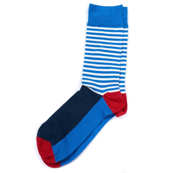 Barbour - Men's Mariner Colourblock Socks in Blue/Red