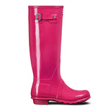 Hunter Women's Original Tall Gloss Wellington Boots in Bright Pink