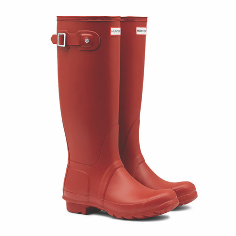 Hunter Women's Original Tall Wellington Boots in Military Red