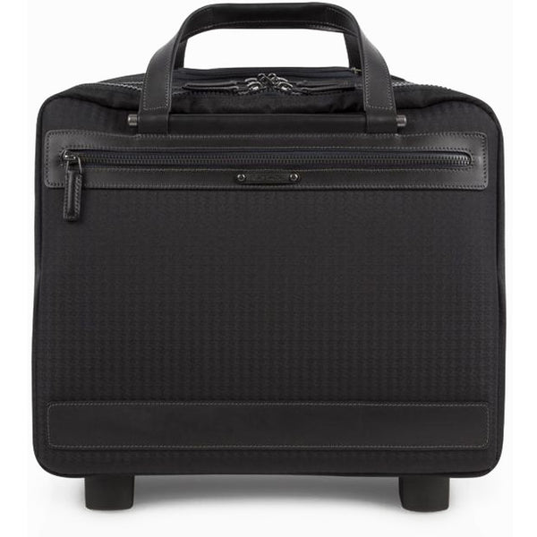 Paul Smith - Jacquard Rabbit Small Business Travel Cabin Case in Black