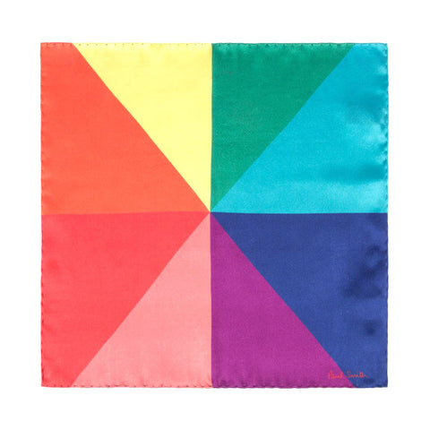 Paul Smith - Multi Coloured Union Jack Print Silk Pocket Square - Pocket Square - Sinclairs Online