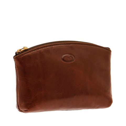 The Bridge - Story Viaggio Necessaire Leather Toiletry Bag in Brown - Cosmetic Bag - Sinclairs Online