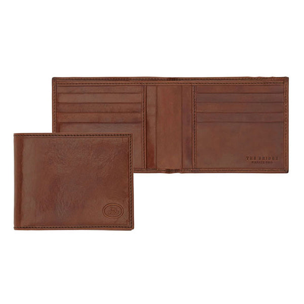 The Bridge - Story Uomo Leather Credit Card Wallet in Brown - Wallet - Sinclairs Online