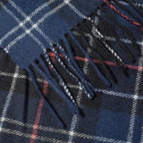 Barbour - Lambswool Tartan Scarf in Navy/Red