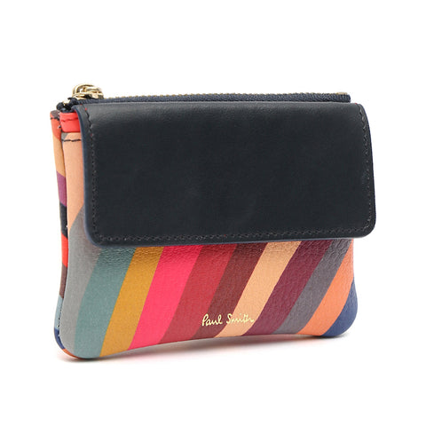 Paul Smith - Women's Swirl Print Leather Zip Purse / Pouch