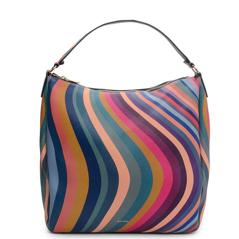 Paul Smith - Women's Swirl Print Leather Hobo Bag ASWIRL