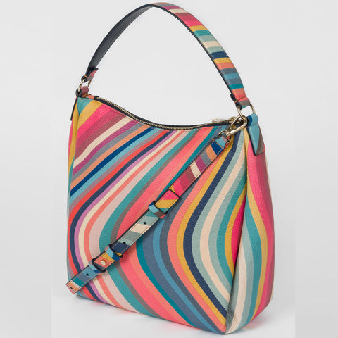 Paul Smith - Women's Swirl Print Leather Mini Hobo Bag