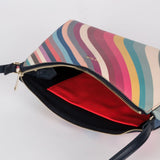 Paul Smith - Women's Spring Swirl Print Leather Crossbody Bag