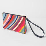 Paul Smith - Women's Swirl Print Leather Wristlet Pouch Bag