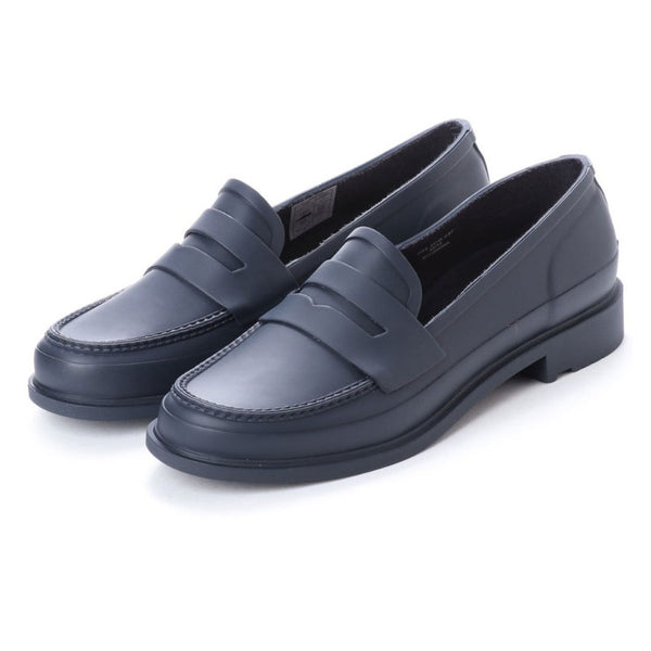 Hunter Women's Refined Penny Loafer in Matte Navy