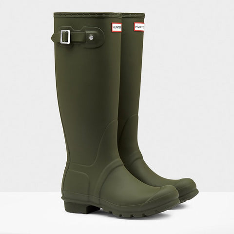 Hunter Women's Original Tall Wellington Boots in Dark Olive