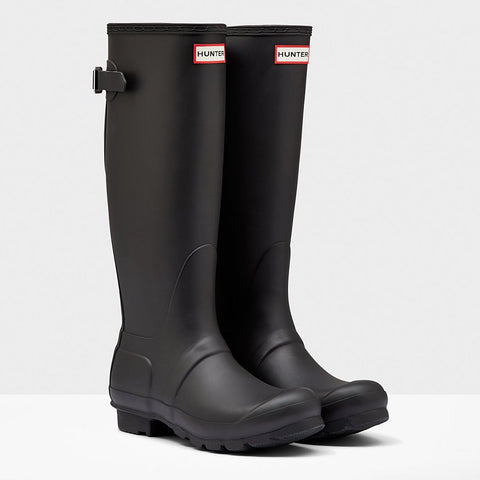 Hunter Women's Original Tall Back Adjustable Wellington Boots in Black