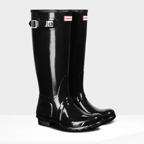 Hunter Women's Original Tall Gloss Wellington Boots in Black