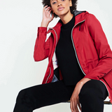 Hunter Women's Original Lightweight Waterproof Jacket in Military Red