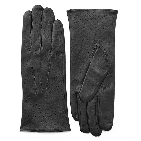 Pittards Ladies Aniline 3 Point Leather Gloves in Black