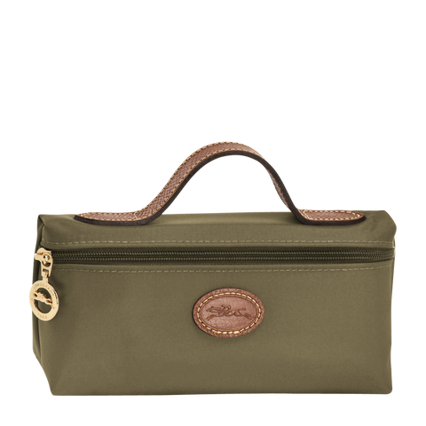 Longchamp - Le Pliage Cosmetic Case in Khaki