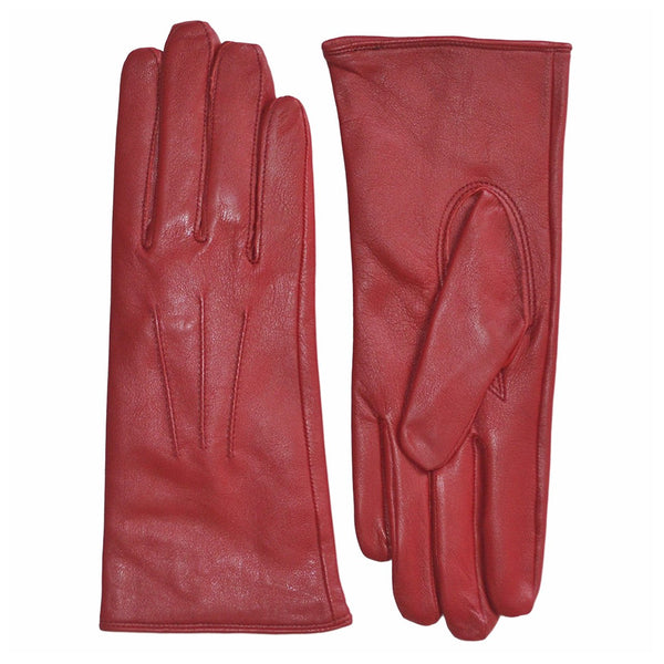 Pittards Ladies Nappa Leather 3 Point Gloves in Crimson