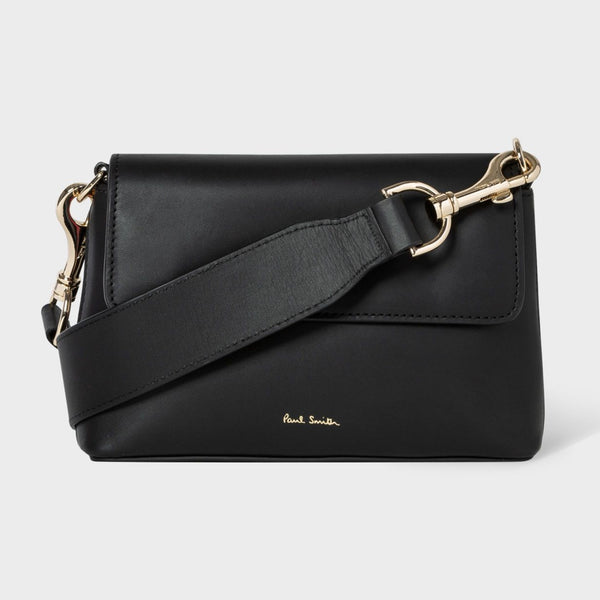 Paul Smith - Women's Black Leather Belt Bag With Swirl Trims