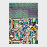 Paul Smith - Women's Multi-Coloured Artist Studio Motif Silk-Blend Scarf