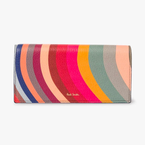 Paul Smith - Swirl Print Leather Tri-Fold Purse