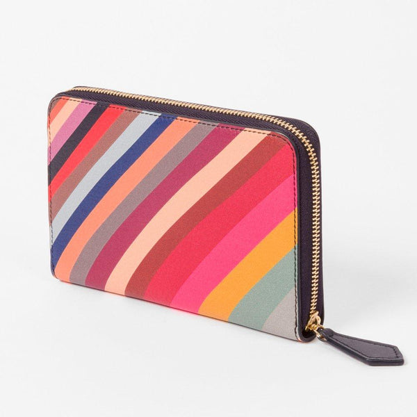 59b448a9a20b Paul Smith - Swirl Print Leather Zip-Around Medium Purse – Sinclairs Online