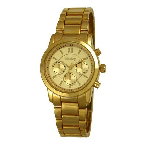 Henley Women's Gold Stainless Steel Watch  H07229.2