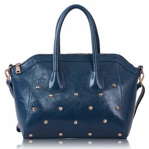 Blue bag studs on bottom