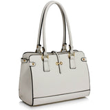 White Grab Shoulder Handbag