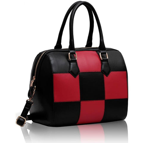 Black and Red Checkered Grab Bag