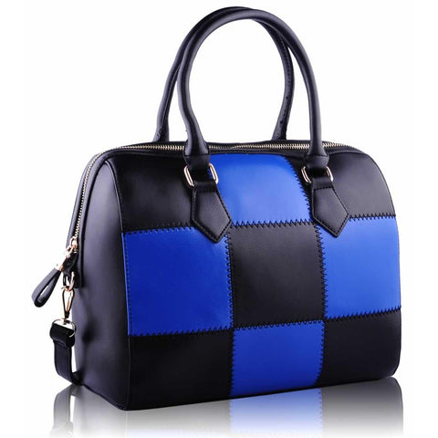 Black and Blue Checkered Grab Bag