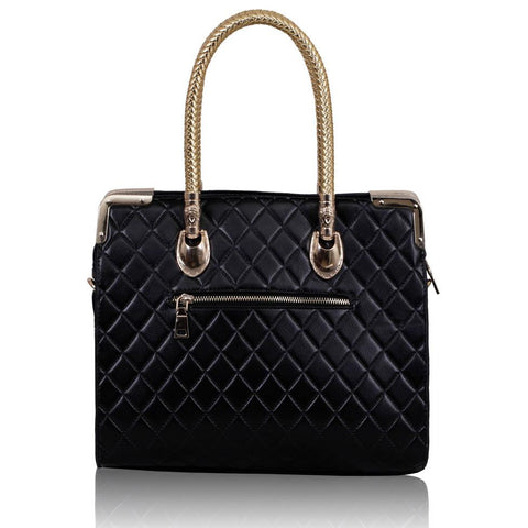 Black Quilted Doctor Style Bag